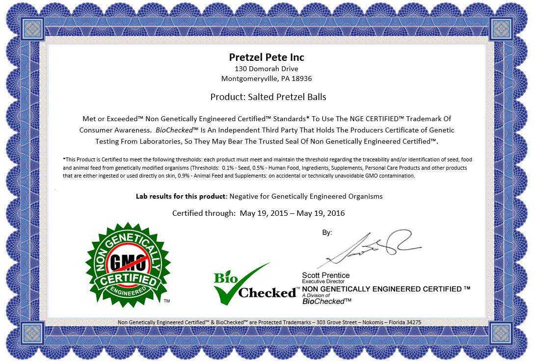 Sample Certificate Nge Non Gmo Certification