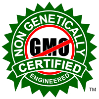 GMO FREE CERTIFIED - Non GMO Certified - Non Genetically Engineered Certified